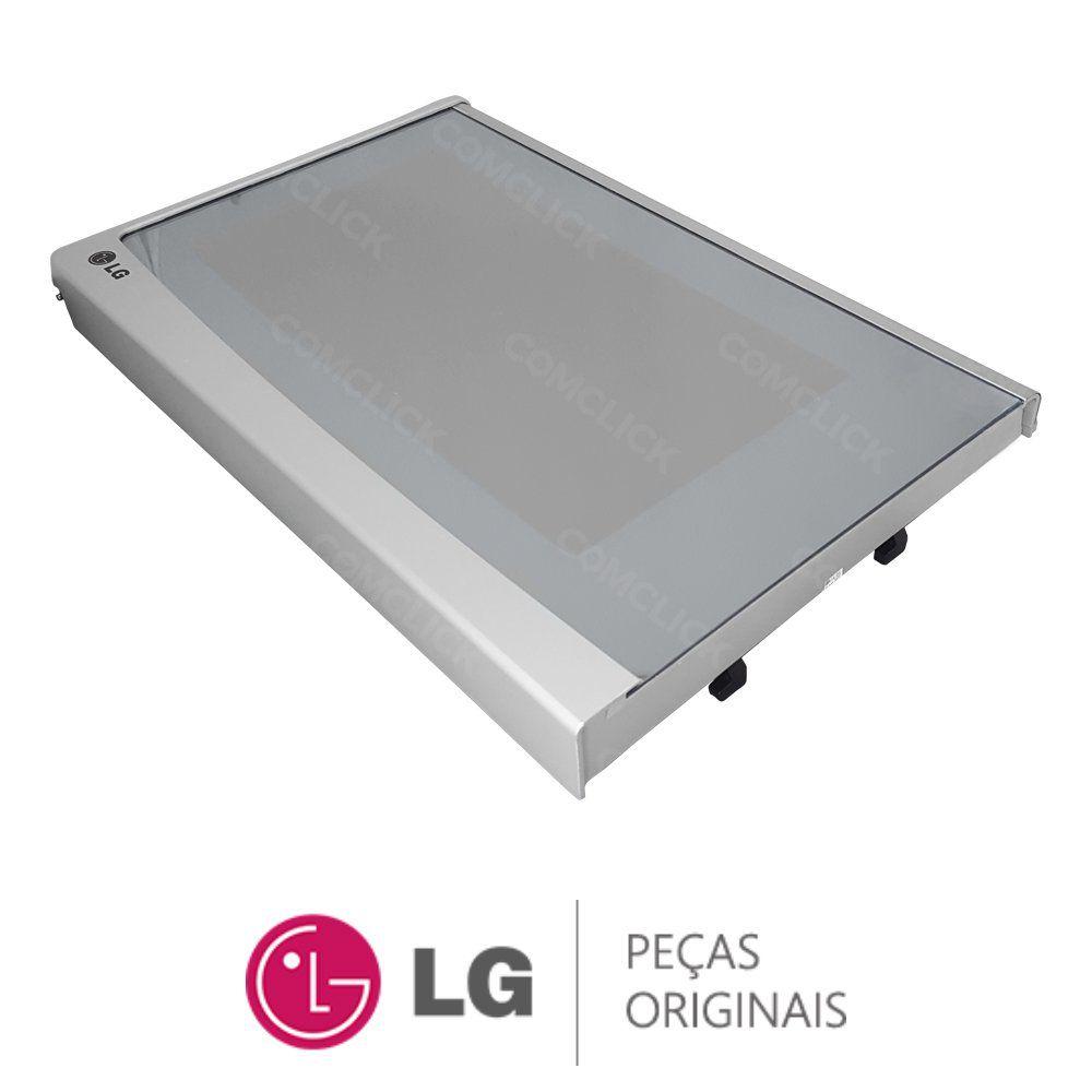 Porta Completa Prata / Espelhada Micro-Ondas LG MH7049C, MH7049CA
