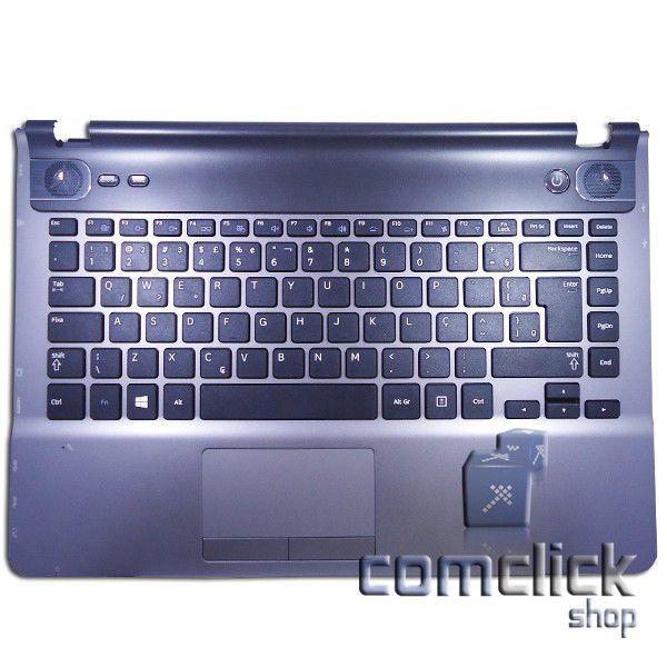 Teclado em Português Padrão Brasileiro com Gabinete Superior e TouchPad Notebook Samsung NP500P4C