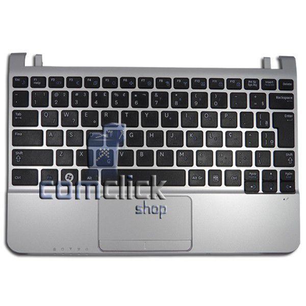 Teclado Padrão Brasileiro com Gabinete Superior e Touch Pad para Netbook Samsung NP-NC215
