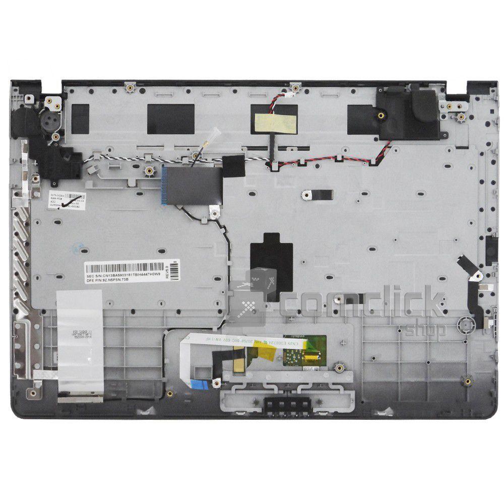 Teclado Português Brasileiro com Gabinete Superior e TouchPad Notebook Samsung NP300E4A, NP305E4A