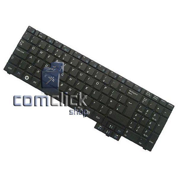 Teclado Preto no Padrão Inglês com Teclado Numérico para Notebook Samsung NP-RV510