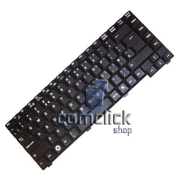 Teclado Preto no Padrão Inglês para Notebook Samsung NP-X460A, NP-X460I, NP-X460W