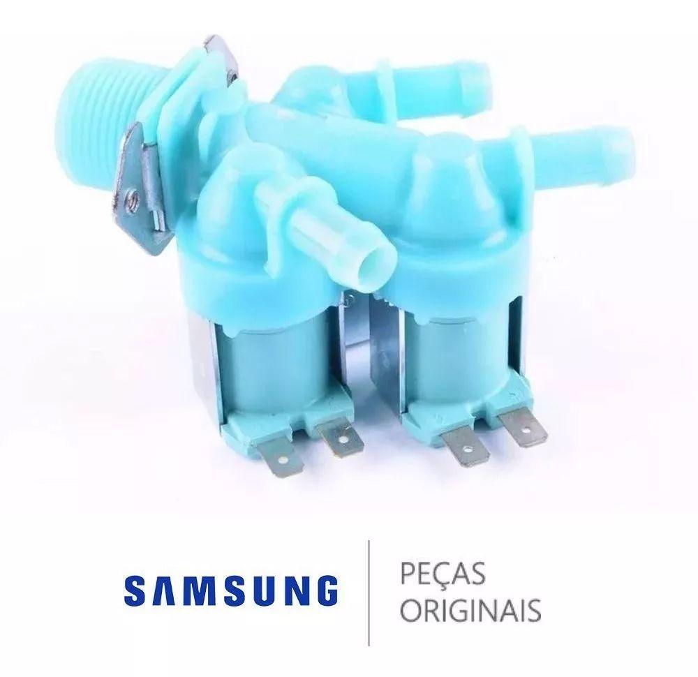 Válvula Entrada de Água Tripla 110V para Lava e Seca Samsung Diversos Modelos