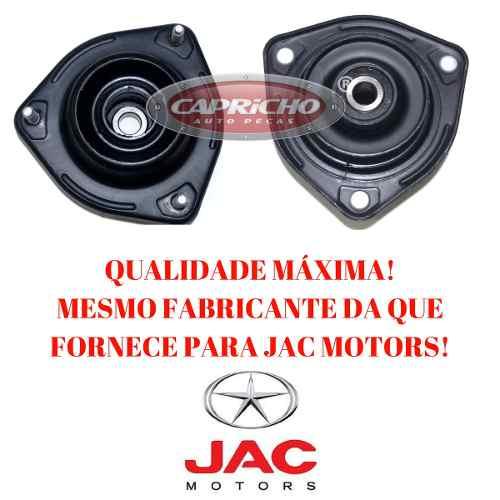 Par Batentes Coxim Amortecedor Dianteiro Jac J6 2009-2015