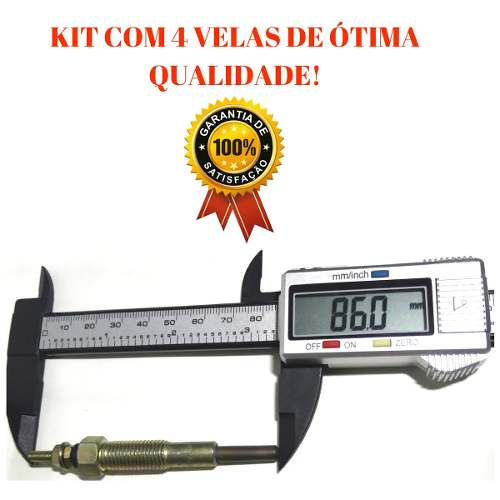 Jogo De Velas Aquecedora L200 Todas 2.5 / Pajero 2.5 / 2.8