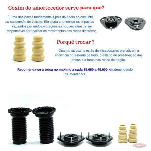 Kit Amortecedor Coxim Batente Dianteiro Corolla 2009 2010 2011
