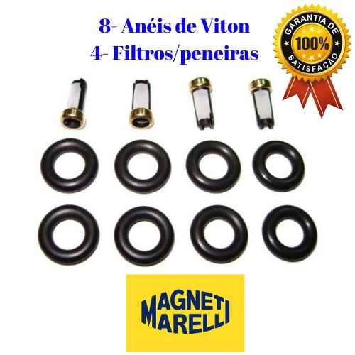 Kit Filtros Para Bico Injetor - Magnetti Marelli