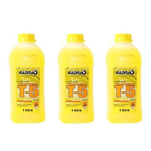 KIT Aditivo Radiador Radnaq Amarelo T5 Concentrado Tropical 1lt