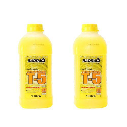 2 Aditivos Radiador Radnaq Amarelo T5 Concentrado Tropical