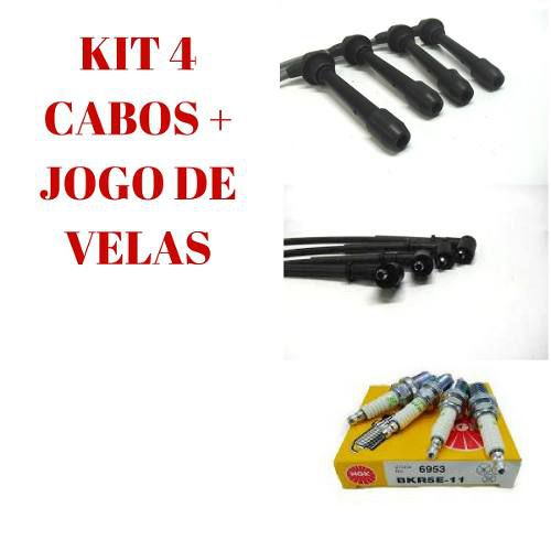 KIT JOGO VELA + CABO VELA IGNICAO KIA SPORTAGE 05/10 2.0 16V