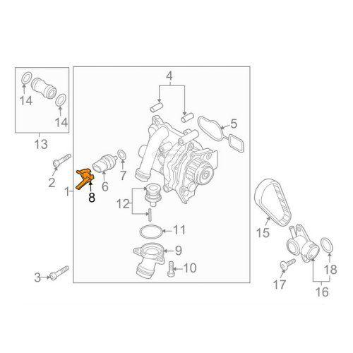 Sensor De Temperatura Volkswagen Jetta Tiguan + Trava + Anel