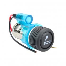 Acendedor De Cigarros Universal Para Veículos 12V (Azul)