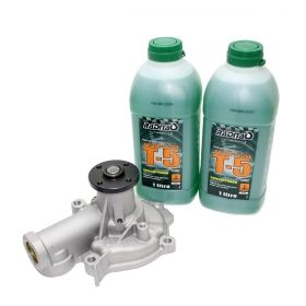 Bomba de água Jac J6 2.0 16V 2011 2012 2013 2014 2015 2016 / Jac T6 2015 - 2016 + Aditivos para Radiador T5 Verde
