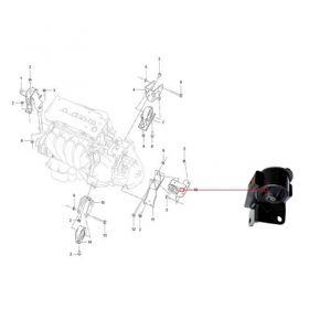 Coxim do Motor Superior Esquerdo Lifan X60 Vvt 1.8 2013/.... - S1001310