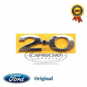 EMBLEMA CROMADO 2.0 FORD ORIGINAL RT70