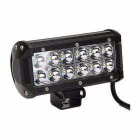 FAROL MILHA LED BARRA / RETANGULAR 36W 12 LEDS - OFF ROAD CARROS CAMINHÕES JEEPS TRATORES