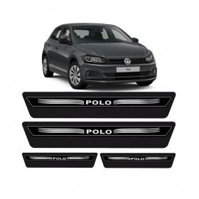 Kit 8 Peças Soleira Adesiva Resinada Protetor De Porta VW Polo 2017/...