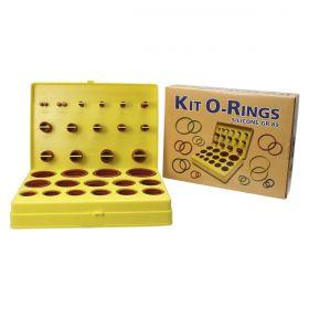 Kit Orings Vedação Silicone GR-89 Com 30 Medidas / 382 peças