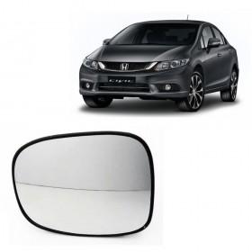 Lente Espelho Do Retrovisor Lado Esquerdo Honda Civic Com Pisca 2012/2015