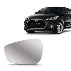 Lente Espelho Do Retrovisor Lado Esquerdo Hyundai Veloster  2011 a 2013