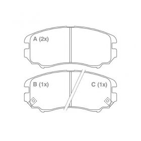 Pastilha de Freio Dianteiro Hyundai Azera Sonata / Sistema Mando