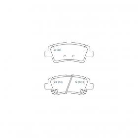 Pastilha De Freio Traseiro Hyundai Tucson / Sportage / iX35