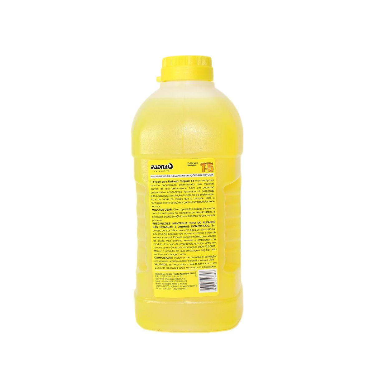 Aditivo Radiador Radnaq Amarelo T5 Concentrado Tropical 1lt
