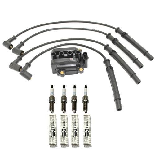 BOBINA + CABOS + VELAS RENAULT CLIO SANDERO 1.0 16V HI-FLEX