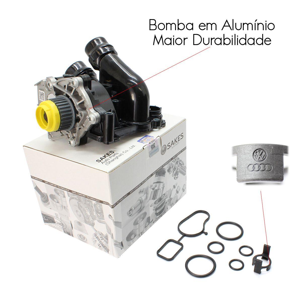 Bomba De Água Completa + Correia Audi A3 A4 A5 A6 A8 Q3 Q5