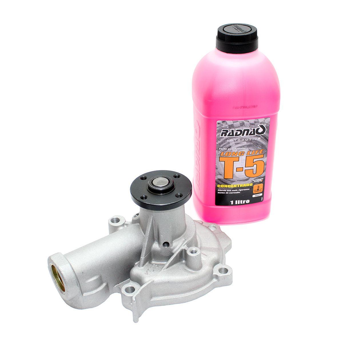 Bomba De Água Jac J6 2.0 16v 2011 - 2016 + Aditivo T5 Rosa
