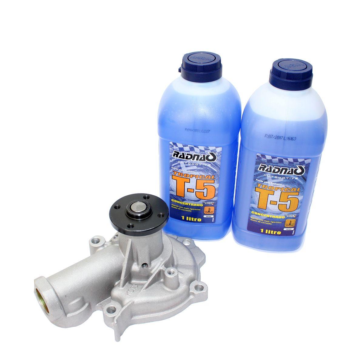 Bomba de água Jac J6 2.0 16V 2011 2012 2013 2014 2015 2016 Jac T6 2015 - 2016 + Aditivos para Radiador T5 Azul