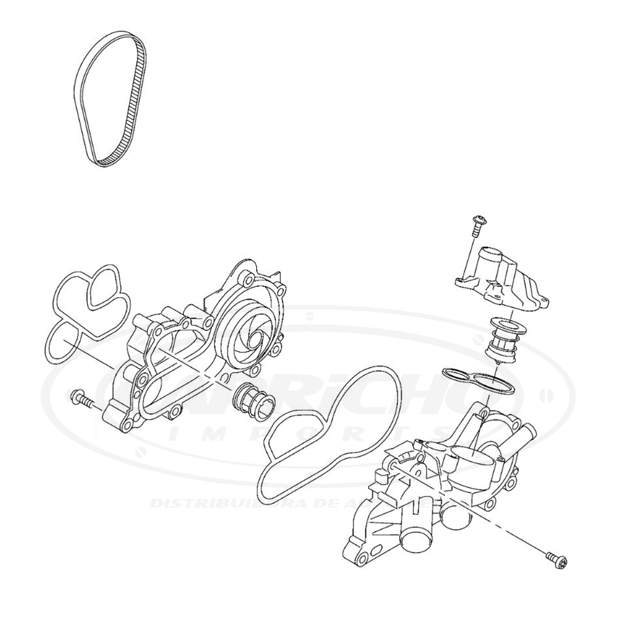 BOMBA DE ÁGUA VW UP FOX GOL GOLF JETTA SAVEIRO 1.0 1.4 1.6 AUDI A1 A3 Q3 1.4