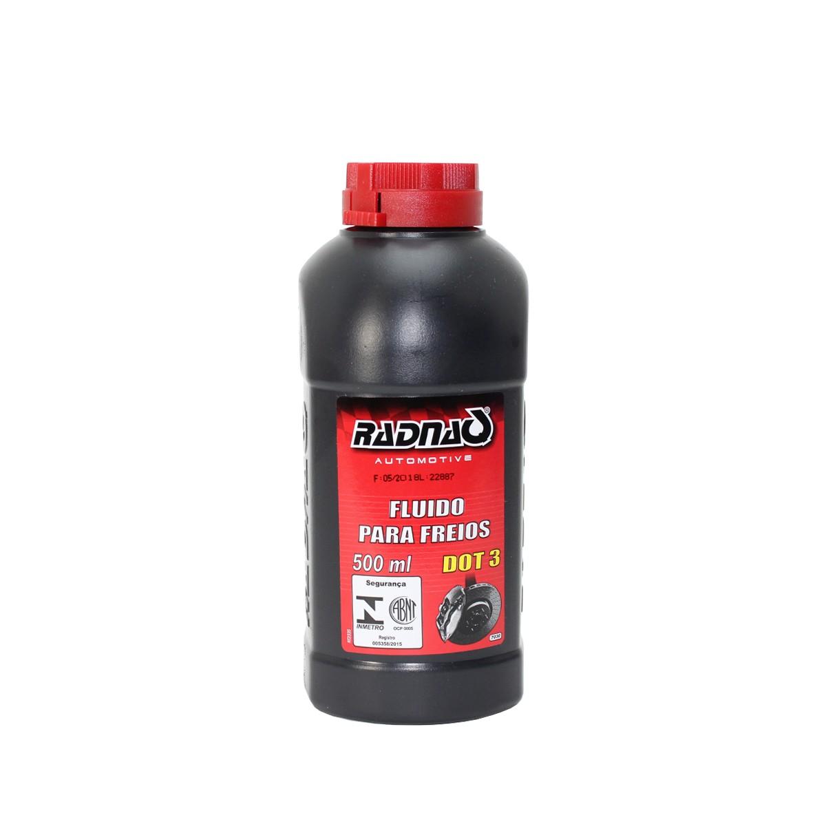 Fluido para Freios DOT3 500ml - RADNAQ