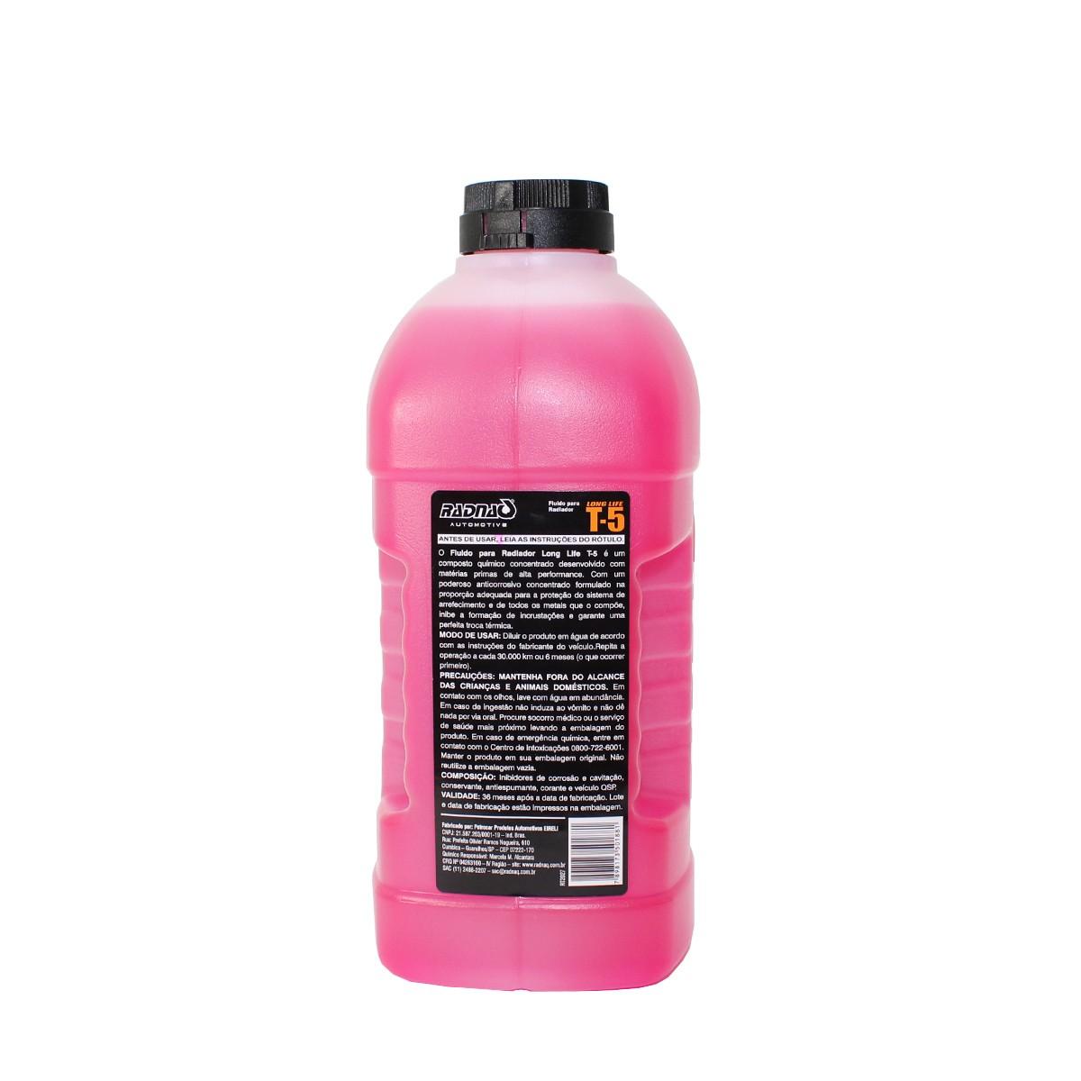 Kit Aditivo para radiador Rosa + Água desmineralizada Deionizada - Radnaq