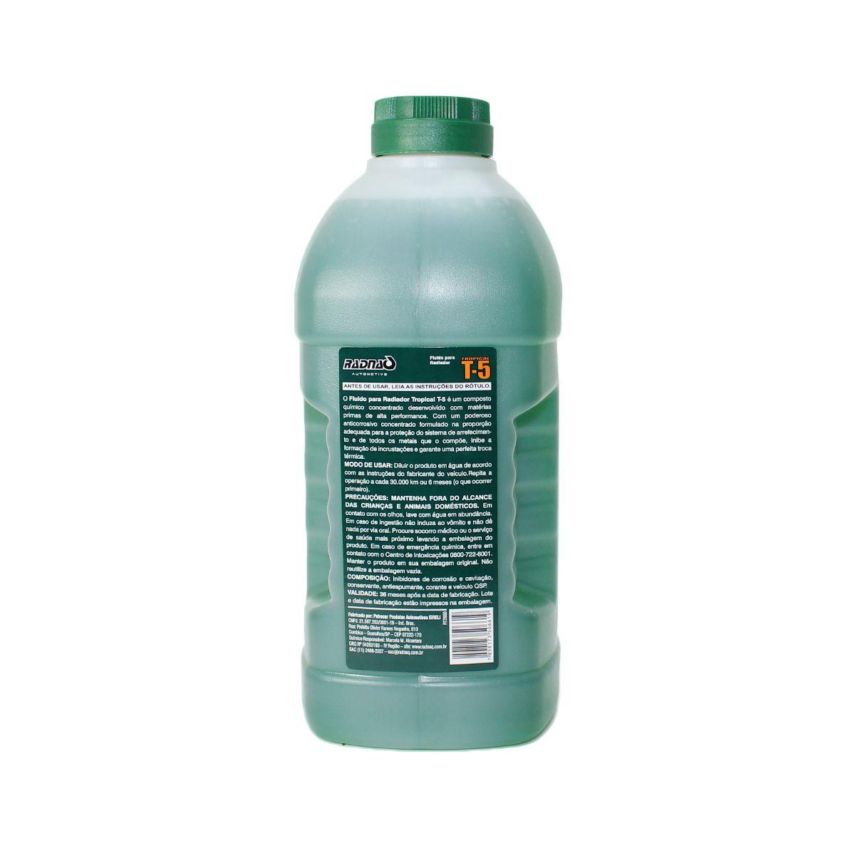 Kit com 8 Aditivos para Radiador Radnaq Verde T5 Concentrado Tropical 8 Uni