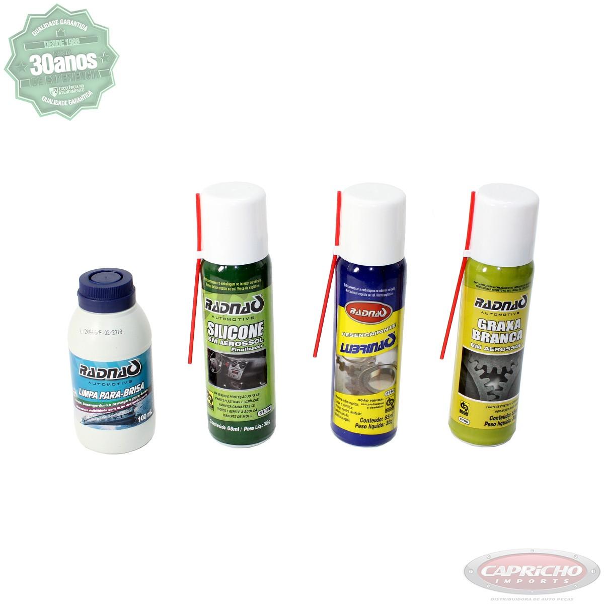 Kit Revisão e limpeza de Veículos com 4 produtos - Radnaq