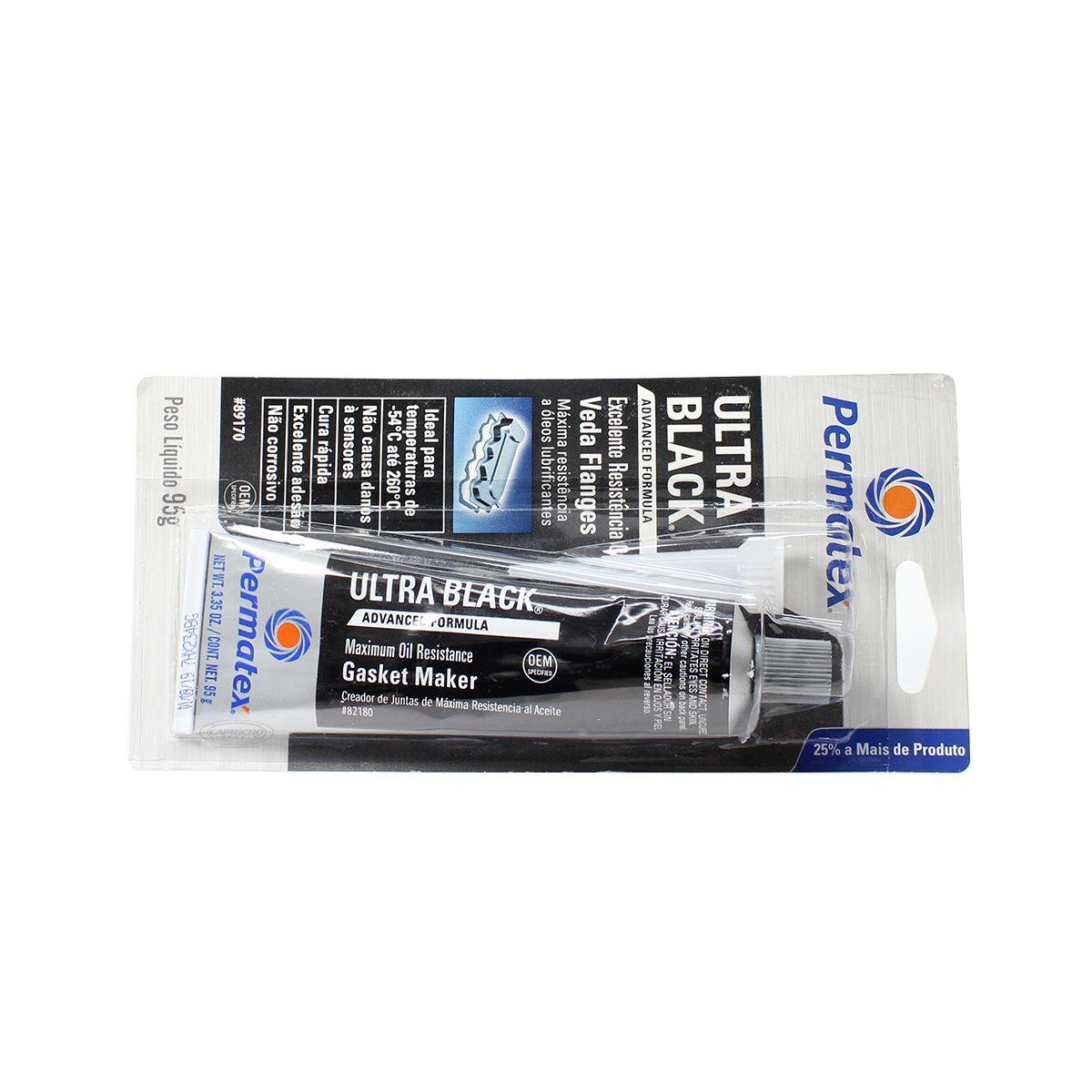 Silicone / Cola Alta Temperatura - Ultra Black - Permatex