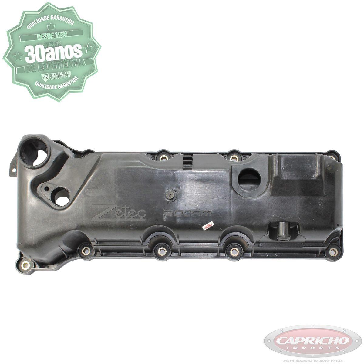 Tampa de válvulas + Junta - Ford Ka / Fiesta - Motor Zetec Rocam 1.0 / 1.6 Flex