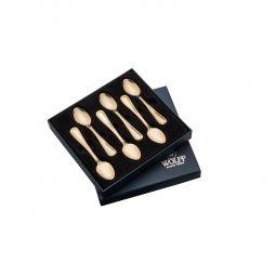 Jogo 6 peças colher para café em PVD dourado Avalon Wolff - 71294
