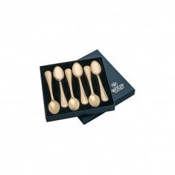 Jogo 6 peças colher para chá em PVD dourado Avalon Wolff - 71293