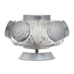 Baleiro 22,5 cm de vidro transparente com base giratória Bon Gourmet  - 72427