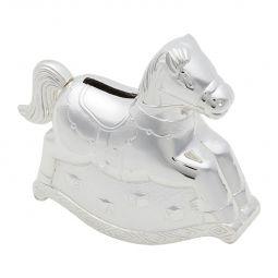 Cofre Cavalo 14,5 cm de zamac prateado Prestige - 2950