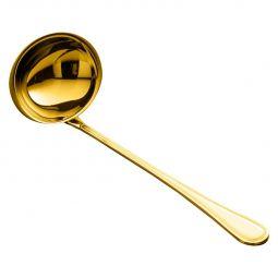 Concha para sopa de aço inox PVD dourado Avalon Wolff - 71214