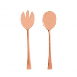 Conjunto 2pç Colher e Garfo para salada de aço inox Berna Rose Wolff - 71698