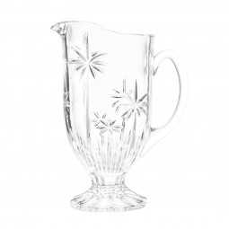 Jarra 1,5 litro para água ou suco de cristal Palm Tree transparente Wolff - 27438