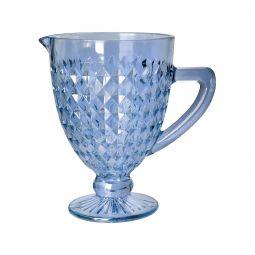 Jarra 1 litro de vidro azul bico de jaca Roman Bon Gourmet - 35442