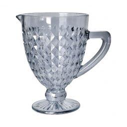 Jarra 1 litro de vidro cinza bico de jaca Roman Bon Gourmet - 35443