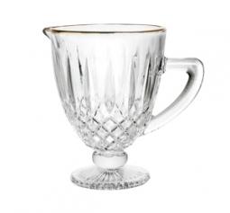 Jarra 1 litro de vidro transparente com fio ouro Greek Bon Gourmet - 35691
