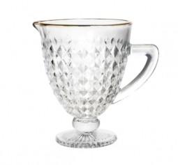 Jarra 1 litro de vidro transparente com fio ouro Roman Bon Gourmet - 35693