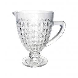 Jarra 1 litro de vidro transparente bico de jaca Roman Bon Gourmet - 35440